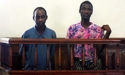 Das malawische Paar vor Gericht