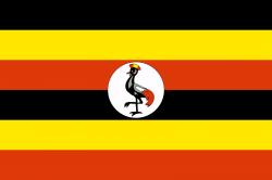 Die Flagge Ugandas