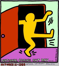 Das Logo des Coming Out days von Keith Haring