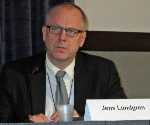 Jens Lundgren, Leiter der PARTNER-Studie, auf der CROI 2014 (Foto: Armin Schafberger)