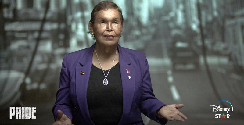 """Die HIV-und Trans-Aktivistin Felicia """"Flames"""" Elizondo setzte sich insbesondere für die Rechte von Schwarzen LGBTIQ ein. © Disney+"""