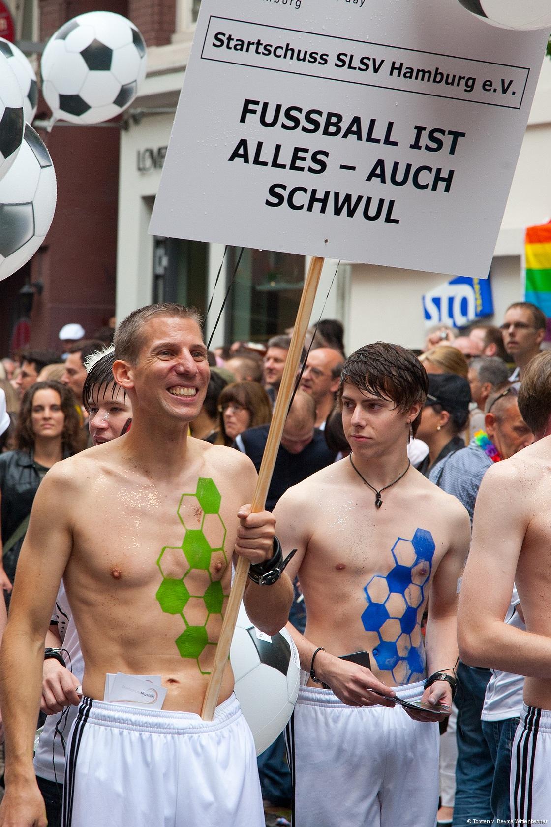 Fußballspieler mit schwulem Sex